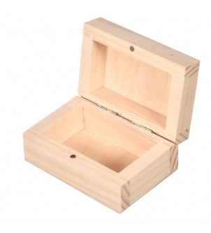 Wooden box for engagement ring