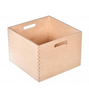 Pojemnik drewniany kwadratowy do decoupage