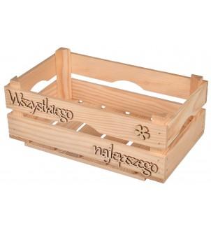 Opakowanie drewniane na prezent personalizowane