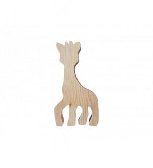 Drewniany dekor żyrafa