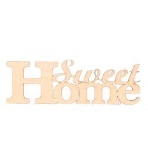 Drewniany napis SWEET HOME