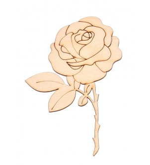 Drewniany dekor róża do decoupage