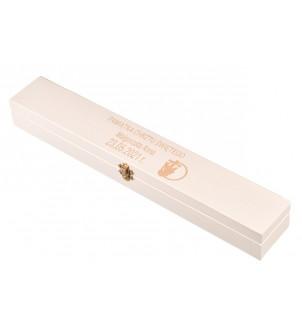 Białe pudełko na świecę chrzest