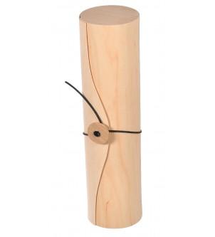 Drewniane pudełko opakowanie na wino tuba