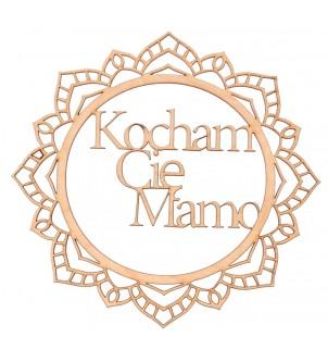 Drewniany dekor do decoupage KOCHAM CIĘ MAMO