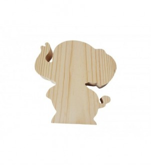 Słoń drewniany 13cm