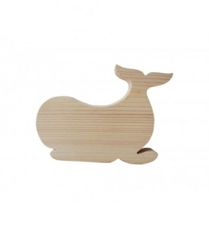 Drewniany dekor wieloryb