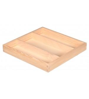 Drewniane pudełko z 3 przegrodami