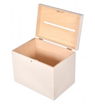 Białe pudełko na koperty ślub wesele skarbona