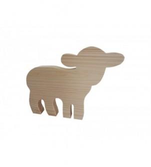Drewniany dekor owieczka