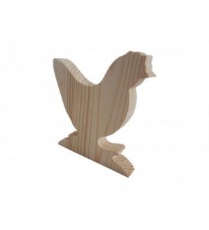 Drewniana kura wielkanocna dekoracja