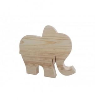 Drewniany dekor słonik duży