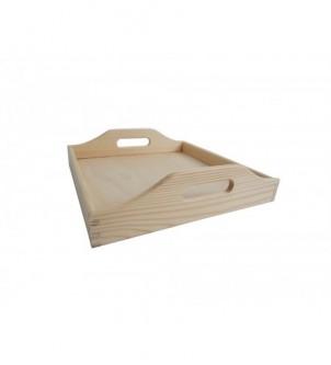 Drewniana tacka kwadratowa mała