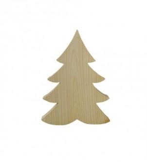 Drewniany dekor stojący świąteczna choinka