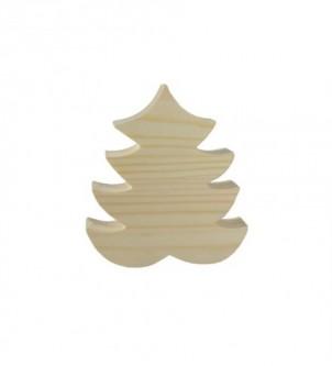 Drewniana ozdoba stojąca choinka świąteczna