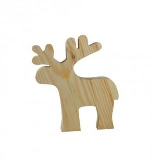 Drewniany renifer dekoracja świąteczna eko