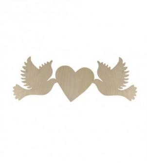 Drewniana ozdoba gołębie ślub wesele