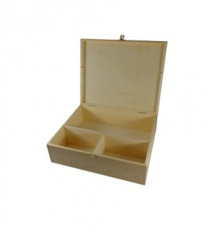 Wooden box for bottle of alkohol and 2 glasses