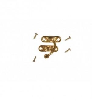 Zapięcie metalowe do pudełek - złote