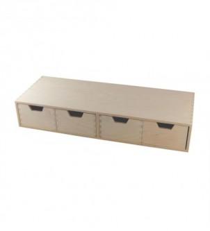 Organizer poziomy z 4 szufladami