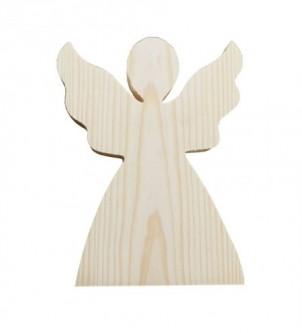 Anioł Duzy z drewna