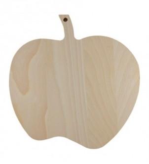 Drewniana deska do krojenia jabłko