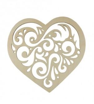 Szablon serce ażurowe małe 10x9cm