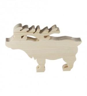 Renifer drewniany ozdoba świąteczna styl rustykalny
