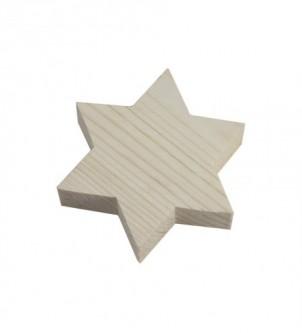 Gwiazdka drewniana 9x9x2cm