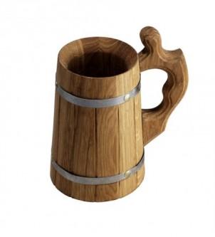 Kufel, kubek drewniany