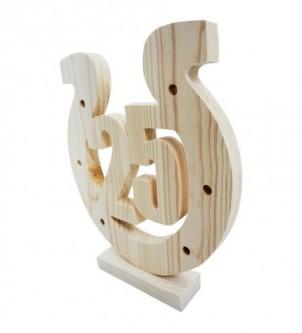 Podkowa drewniana na 25-tą...