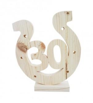 Podkowa z drewna na 30-te urodziny