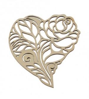 Drewniany dekor róża ażurowa