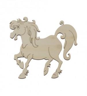 Koń drewniany dekor
