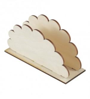 Serwetnik drewniany chmurka decoupage