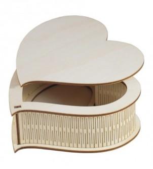 Pudełko drewniane na prezent SERCE