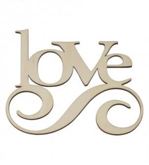 Love drewniany napis inicjał dekor