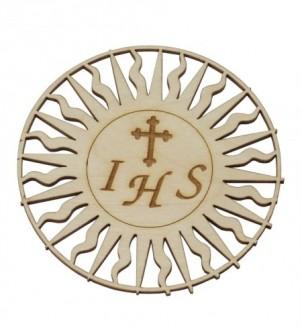 Hostia drewniana dekor Komunia Chrzest pamiątka