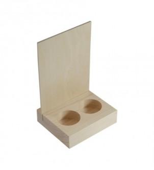 Drewniana podkładka na pojemniki z przyprawami