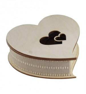 Pudełko w kształcie serca...