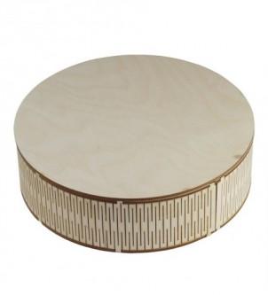 Drewniane pudełko okrągłe