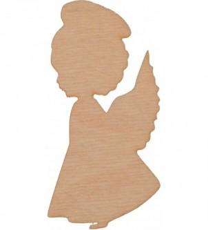 Aniołek z sklejki dziewczynka